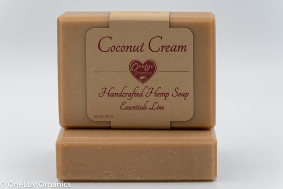 Coconut Cream Goat Milk Soap - Essentials Line: Hemp