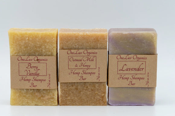 Hemp Shampoo Bar Variety Pack
