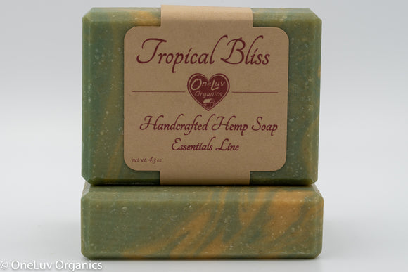 Tropical Bliss Handcrafted Soap: Essentials Line Hemp