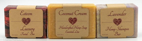 Pick 3 Hemp Soaps and Save 15%