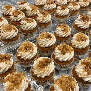 Maple Pumpkin Streusel Cupcakes
