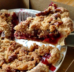 Cranberry Walnut Crumble Pie