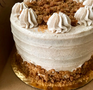 Maple Pumpkin Streusel Cake