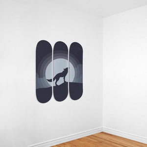Lone Wolf 3 Skateboard Wall Art