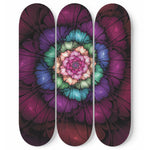 Fantasy Flower 3 Skateboard Wall Art