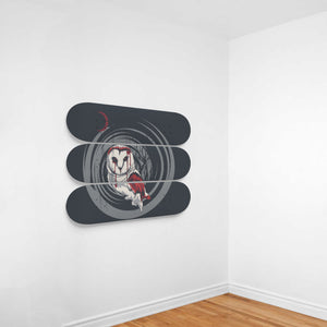Night Owl 3 Skateboard Wall Art