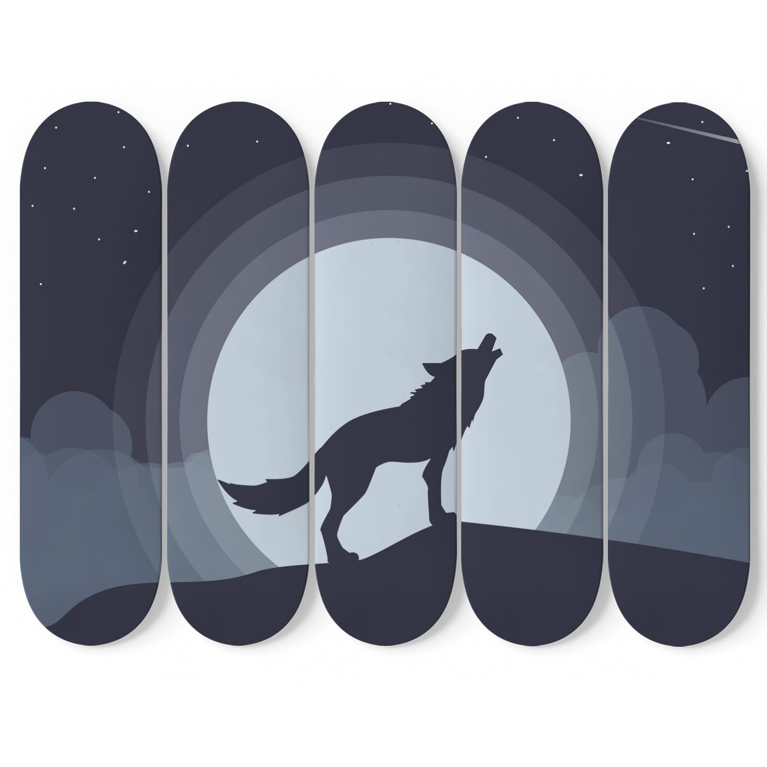Lone Wolf 5 Skateboard Wall Art