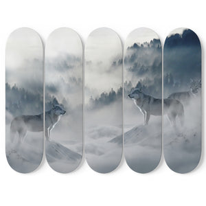 Wolf's in the Mist 5 Skateboard Wall Art