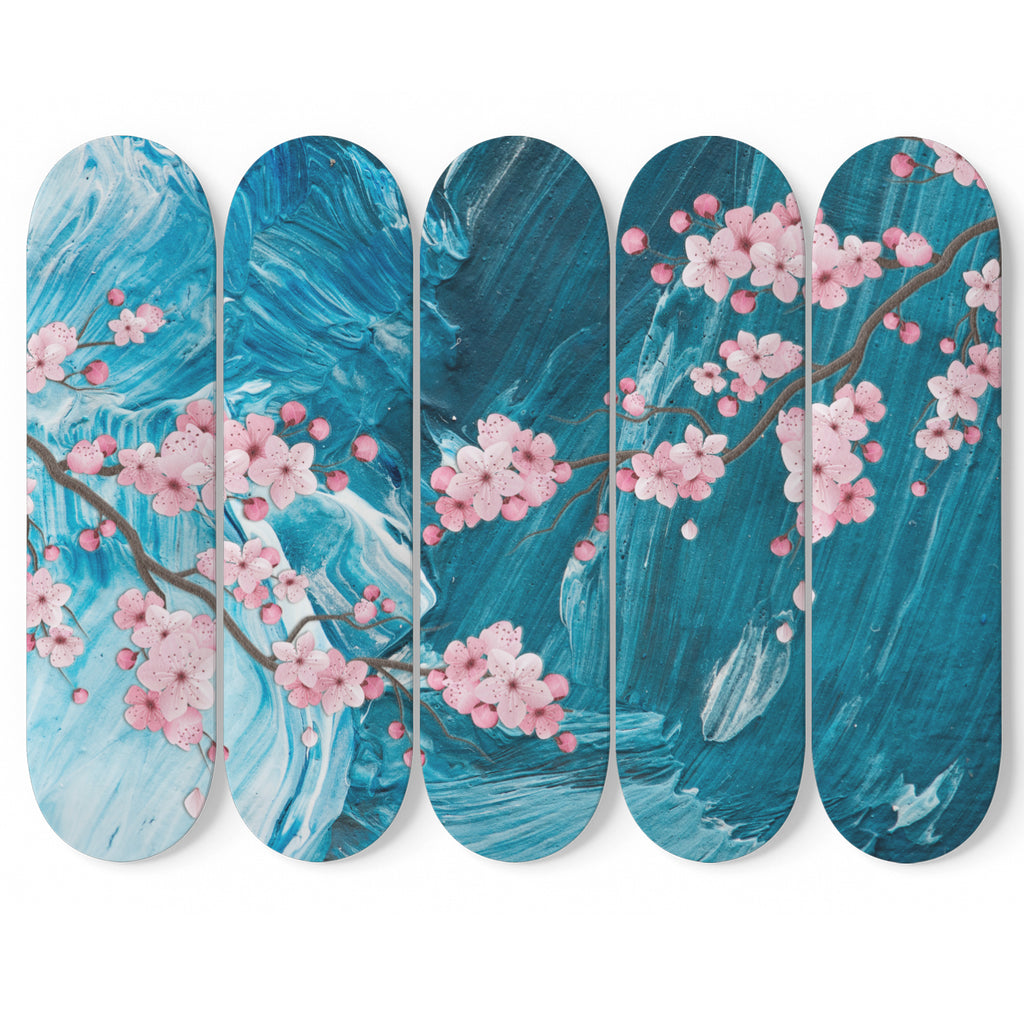 Cherry Blossom 5 Skateboard Wall Art