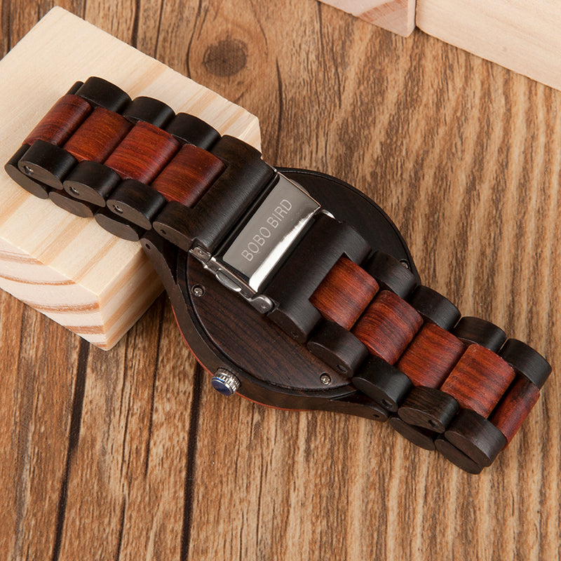 Sport Watch with Wooden Band and box