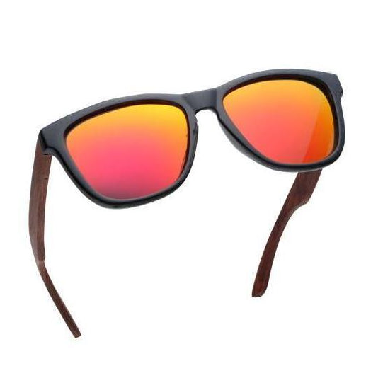 Limitless - Rosewood Wooden Sunglasses with mirror lens