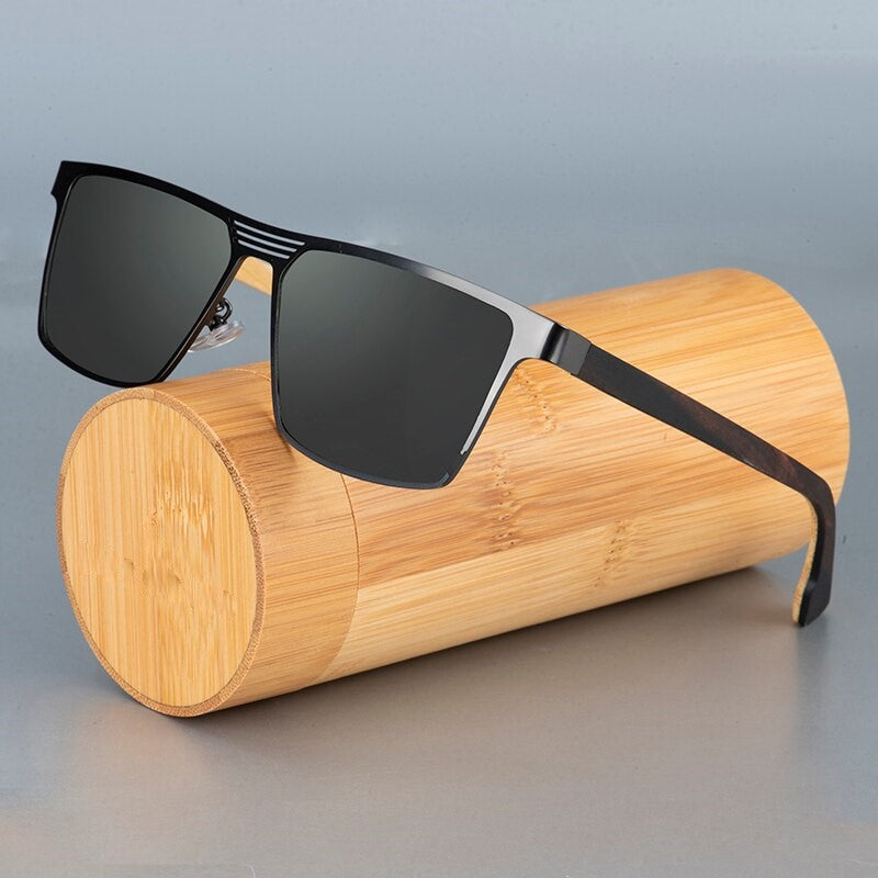 Panther - Wood and Metal Handmade Polarized Sunglasses