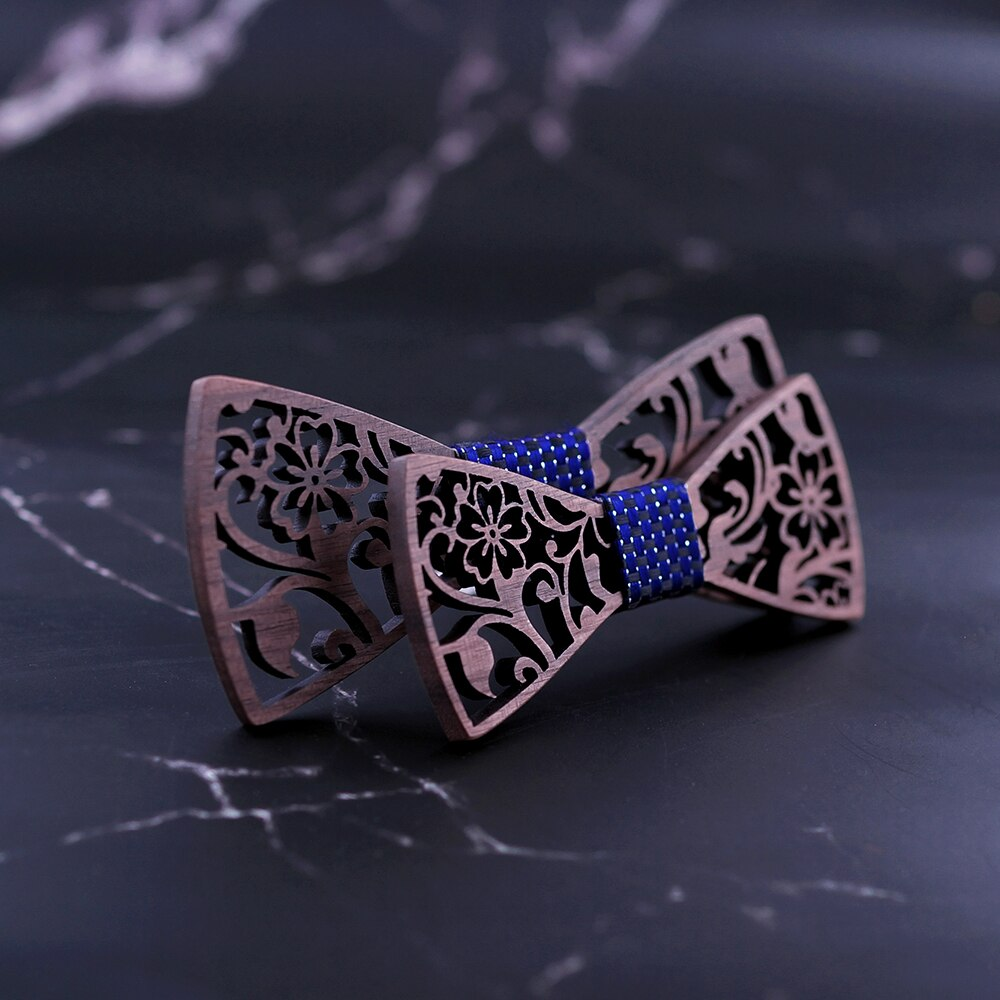 Father and Son Wooden Bow Tie Set