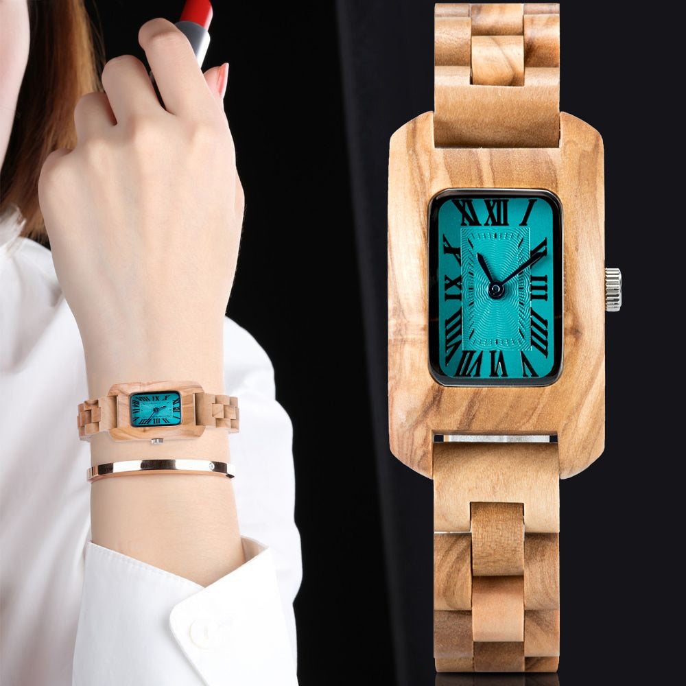 BOBO BIRD Female Olive Zebra Wood Quartz Timepiece reloj mujer Wristwatches for Lady Paper Gift Box Support Custom Dropshipping