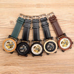 Luxury Horological Mechanical Watch With Leather Strap