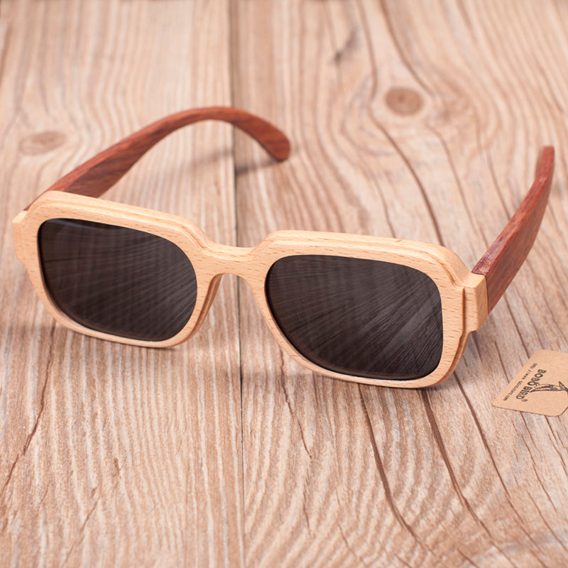 handmade bamboo sunglasses frame with grey lens