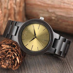 Stunning metallic watch face, fitted into a beautifully handcrafted wooden watch.  gold watch face