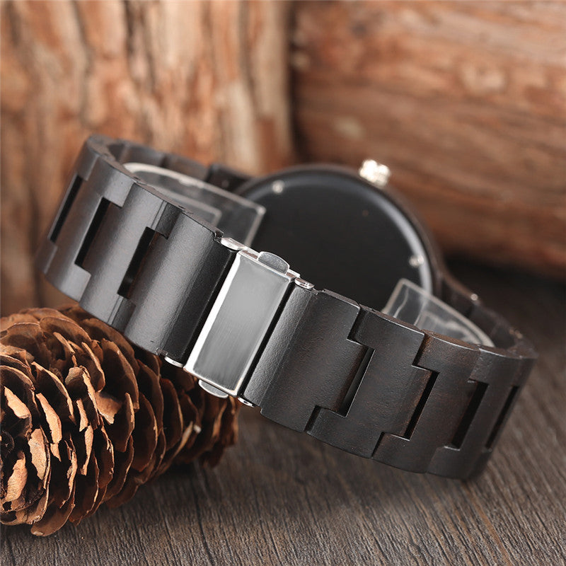 Noble Design Luxury Quartz Wooden Watches with Bamboo Strap for Men and Women