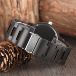 Stunning metallic watch face, fitted into a beautifully handcrafted wooden watch.  with steel clasp