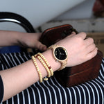 Classic Black Dial Ladies Watch in Wooden Box