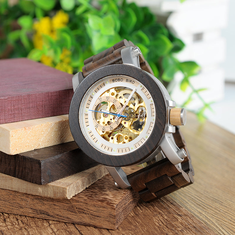 Luxury Horological Mechanical Watch With Steel body
