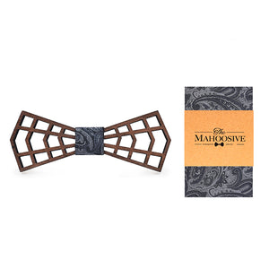 Hollowed Wooden Bow Tie Set