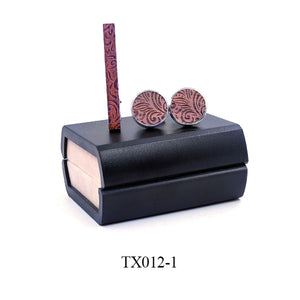 Tie Bar and matching cuff links set in gift box