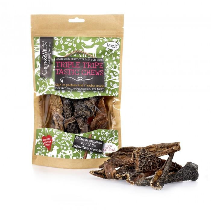 Friandises Triple Tripes Tastic Chew (bœuf) - Green & Wilds - Pawzitive