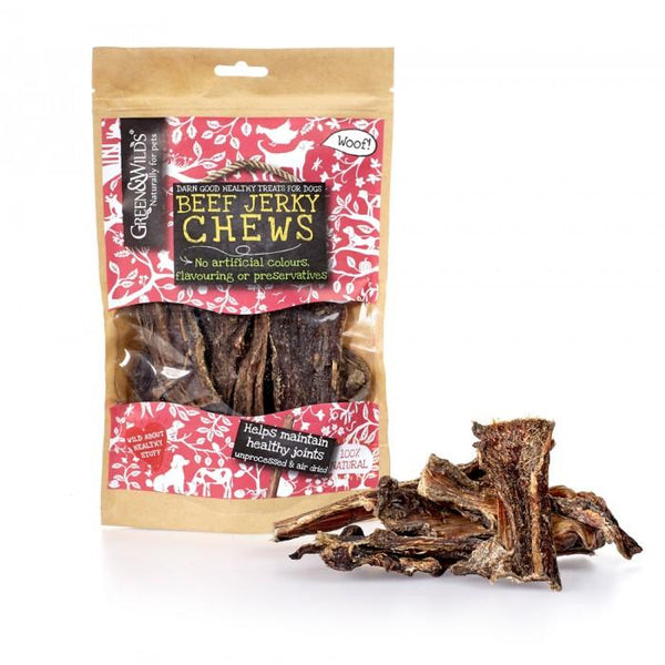 Beef Jerky Chew (Viande de boeuf à mâcher) - Green & Wilds - Pawzitive