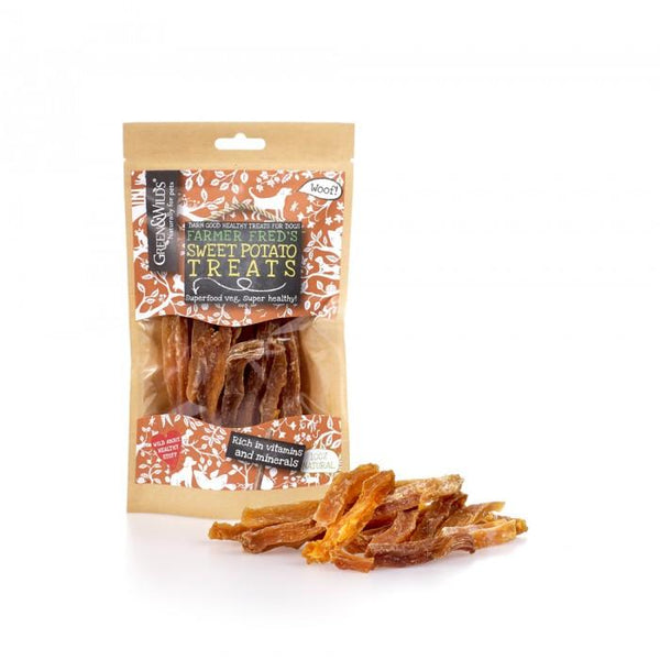 Friandises Naturelles - Patate Douce séchée (100 gr) Green & Wilds - Pawzitive