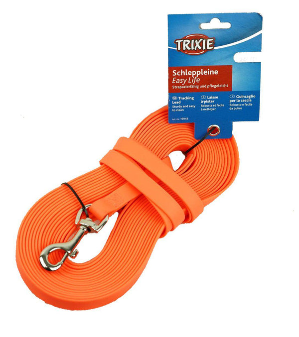 Longe de pistage Biothane orange 10 m - Trixie Easy life