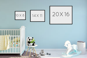 Woodland Nursery Baby Name Sign with Birth Stats