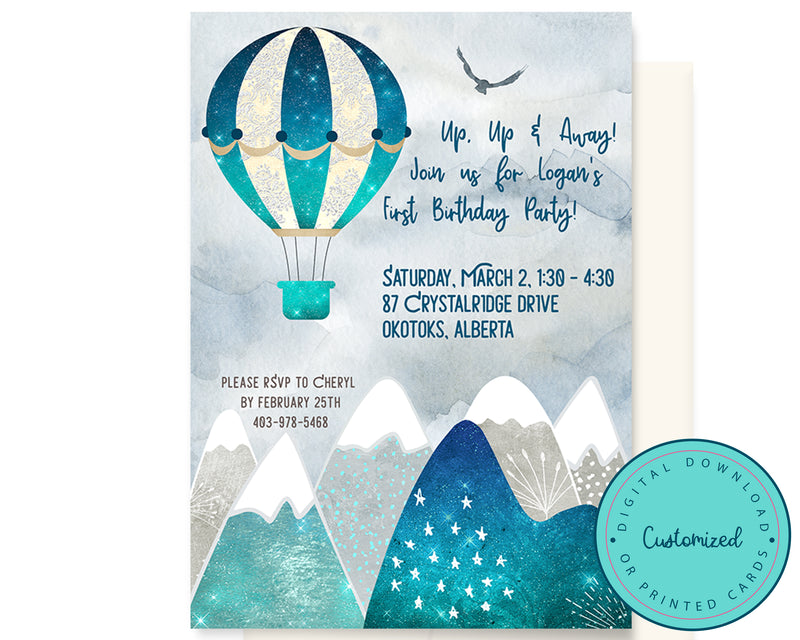 Mountain Air Birthday Invitation