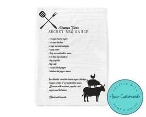Personalized BBQ Recipe Towel