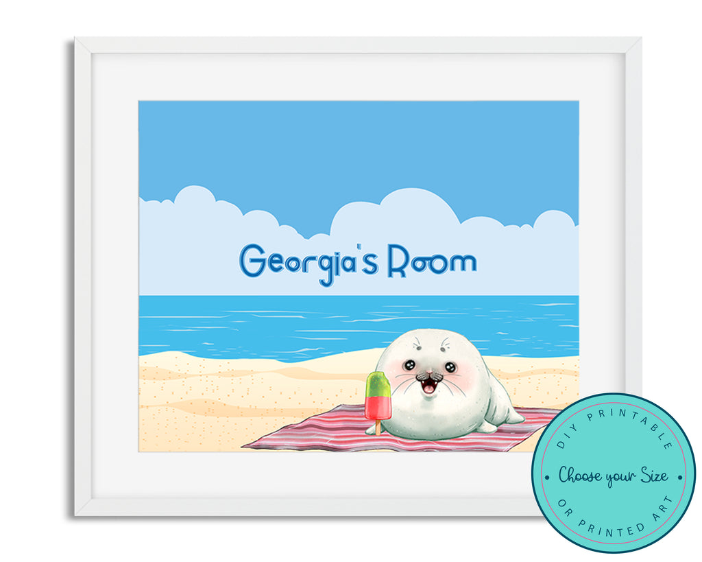 Personalized Seal Beach Name Sign