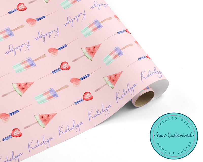 Personalized Beautiful Berry Summer Wrapping Paper
