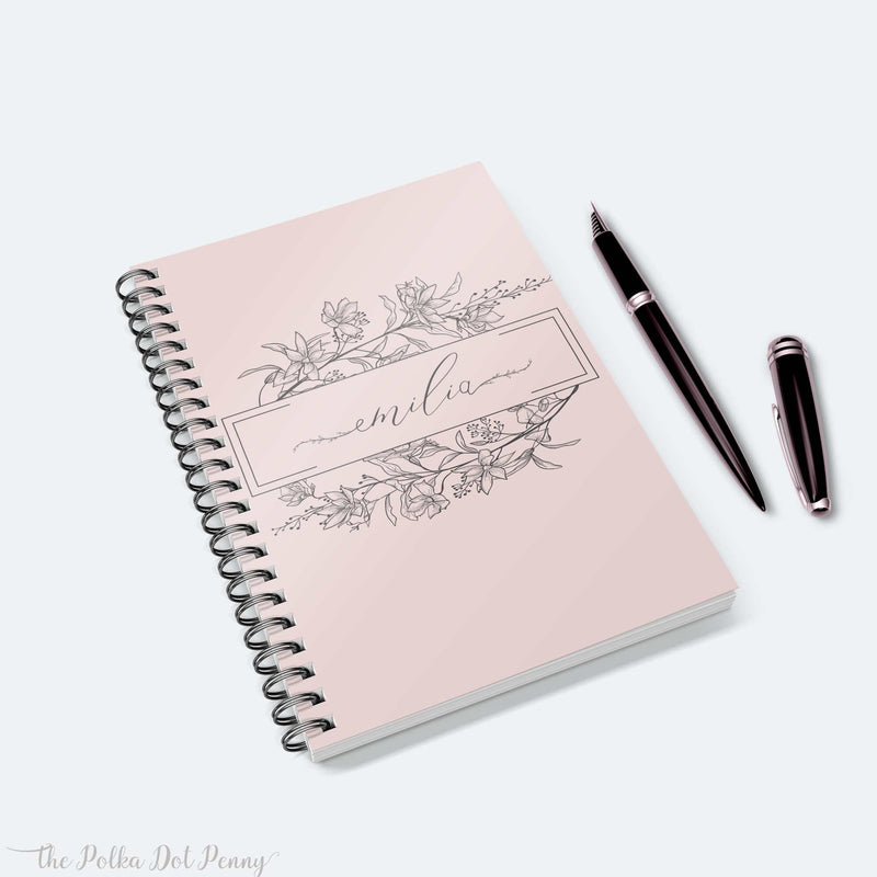 Blossoms Personalized Notebook