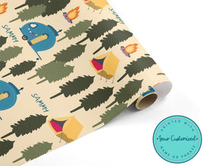 Personalized Camping Wrapping Paper
