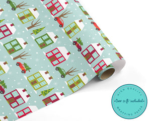 Christmas Village Wrapping Paper
