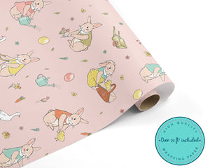 Classic Garden Easter Bunny WRAPPING PAPER