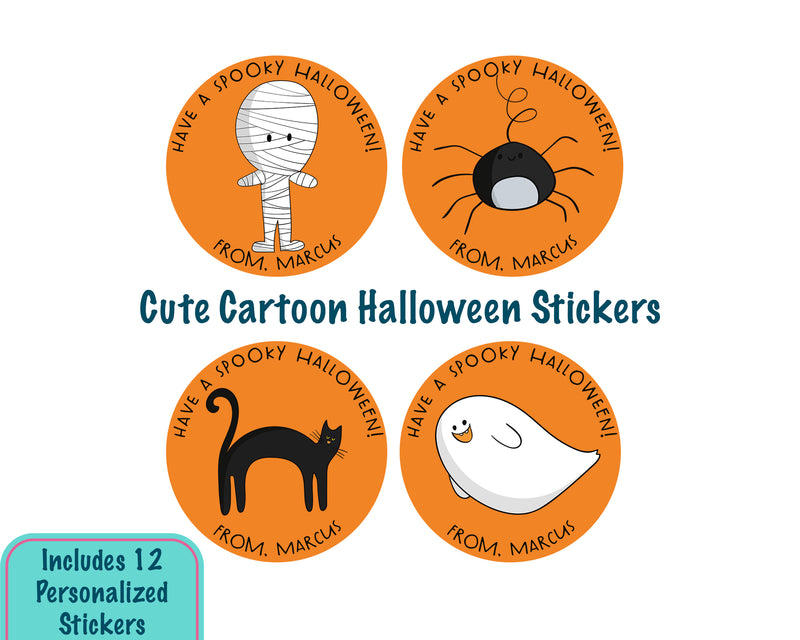 Cute Cartoon Halloween Stickers