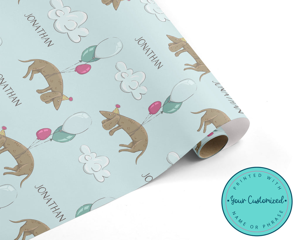 Personalized Dachshund Wiener Dog Wrapping Paper