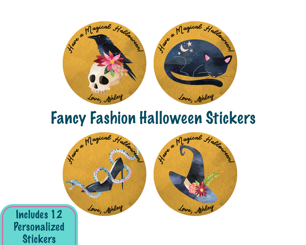 Fancy Fashion Halloween Stickers