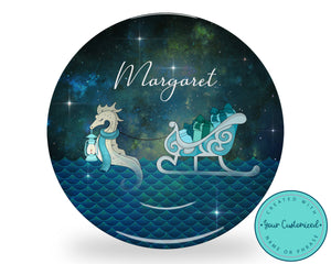 Seahorse Christmas Plate