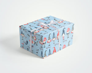 Personalized Christmas Gnomes Wrapping Paper