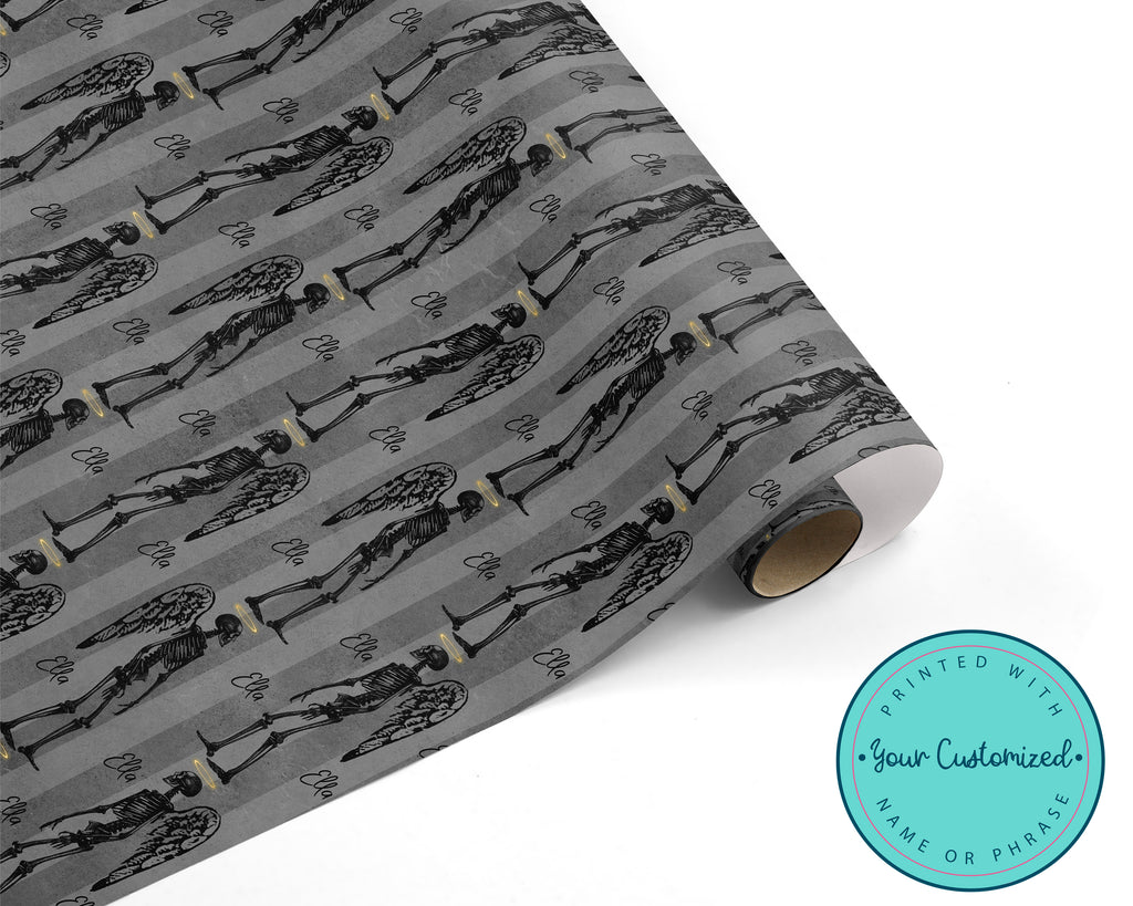 Creepy Gothic Angel Wrapping Paper