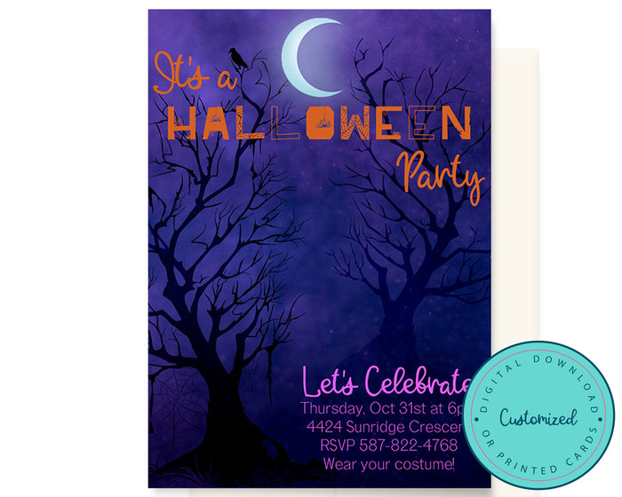 Spooky Halloween Party Invitation