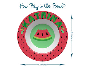 Personalized Watermelon Plate & Bowl Set