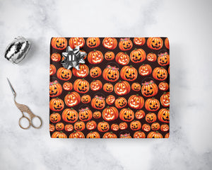 Halloween Pumpkin Wrapping Paper