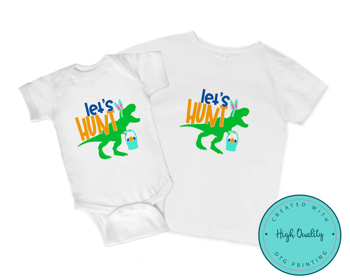 Let's Hunt Dinosaur Easter Shirt